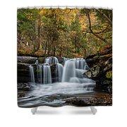 Autumn At Dunloup Creek Falls Shower Curtain