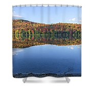 Autumn At Heart Lake Shower Curtain