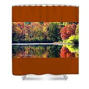 Autumn At Laurel Lake Shower Curtain