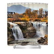 Autumn At Lundbreck Falls Provincial Park Shower Curtain