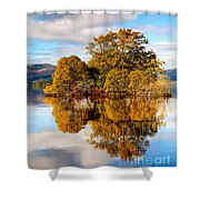 Autumn At Milarrochy Bay Shower Curtain