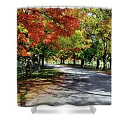 Autumn At Oatlands Lane Shower Curtain