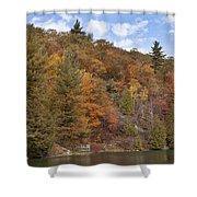 Autumn At Pink Lake Shower Curtain