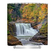 Autumn At The Lower Falls Shower Curtain
