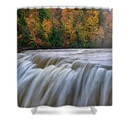 Autumn At The Middle Falls  Shower Curtain
