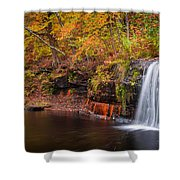 Autumn At Wolf Creek Falls Shower Curtain