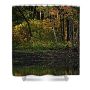 Autumn At Wrights Pond Shower Curtain