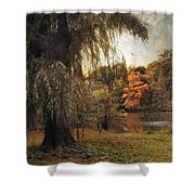 Autumn Awaits Shower Curtain