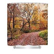 Autumn Azalea Garden Shower Curtain