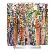 Autumn Bamboo Shower Curtain by Marionette Taboniar