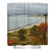 Autumn Beachcombers  Shower Curtain