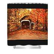 Autumn Bike Ride Shower Curtain