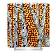 Autumn Birch Shower Curtain