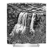 Autumn Blackwater Falls Bw Shower Curtain