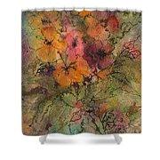 Autumn Blooms Shower Curtain