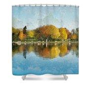 Autumn Blues Shower Curtain