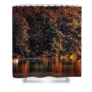 Autumn Boating At Argyle Lake Shower Curtain