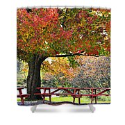 Autumn By The River On 105 Shower Curtain