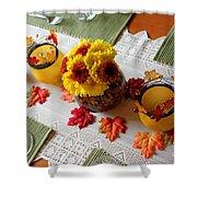 Autumn Centerpiece Shower Curtain
