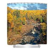 Autumn Color Along Beaver River Shower Curtain