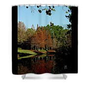 Autumn Color Reflected Shower Curtain