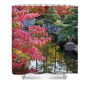 Autumn Color Reflection - Digital Painting Shower Curtain