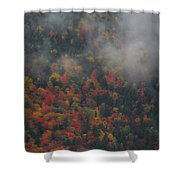 Autumn Colors In The Clouds Shower Curtain