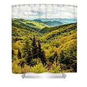 Autumn Colors In The Smokies Shower Curtain
