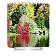 Autumn Colours By The Lake Shower Curtain