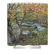 Autumn Comes To The Unami Creek Shower Curtain
