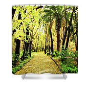 Autumn Corridor Shower Curtain