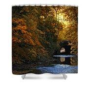 Autumn Country Bridge Shower Curtain
