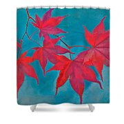 Autumn Crimson Shower Curtain by William Jobes