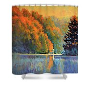 Autumn Day Rising Shower Curtain