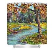 Autumn Daze Splendor  Shower Curtain