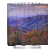 Autumn Deciduous Forest Great Smoky Shower Curtain