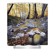 Autumn Deer Shower Curtain