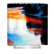 Autumn Down By The River Shower Curtain