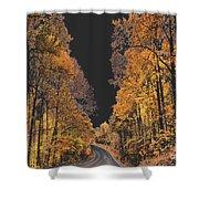 Autumn Drive 2 Shower Curtain