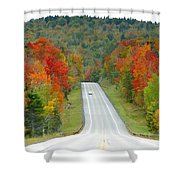Autumn Drive Shower Curtain