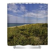 Autumn Dune View Shower Curtain