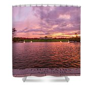 Autumn Evening At Forest Parks Grand Basin Shower Curtain