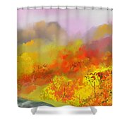 Autumn Expression Shower Curtain