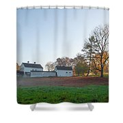 Autumn - Farm At Valley Forge Shower Curtain