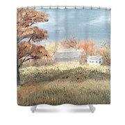 Autumn Farm  Shower Curtain