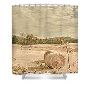 Autumn Farming And Agriculture Landscape Shower Curtain