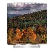 Autumn Fencerow Shower Curtain