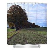 Autumn Fields, Syke, Germany Shower Curtain