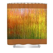 Autumn Fire Abstract Shower Curtain