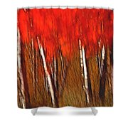 Autumn Fire Shower Curtain